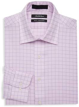 Saks Fifth Avenue BLACK Men's Slim-Fit Houndstooth Cotton Dress Shirt