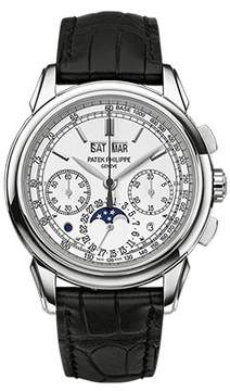 Patek Philippe Grand Complications Silver Dial Chronograph 18K White Gold Men's Watch