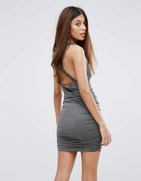 AX Paris Cross Back Rouched Bodycon Dress