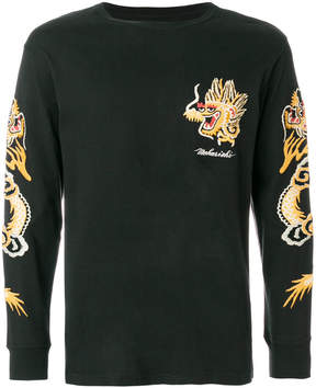 MHI embroidered sleeve sweatshirt