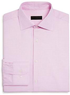 Ike Behar Textured Check Regular Fit Dress Shirt
