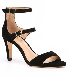 Antonio Melani Baldtyn Triple Strap Suede Dress Sandals