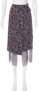 Dries Van Noten Silk Midi Skirt w/ Tags