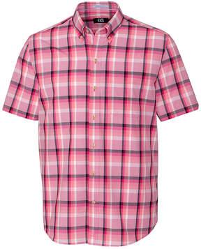 Cutter & Buck Pink Plaid Adobe Button-Up - Men