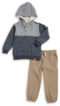 Lucky Brand Little Boy's Two-Piece Heathered Hoodie and Plain Jogger Pants Set