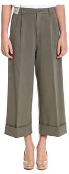 Berwich Women's Brown Cotton Pants.