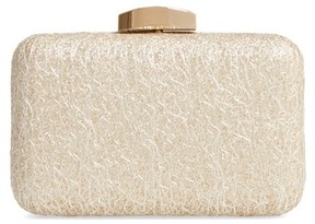 Nordstrom Abstract Lace Minaudiere - Metallic
