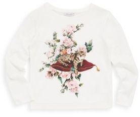 Dolce & Gabbana Toddler's, Little Girl's & Girl's Cotton Floral T-Shirt