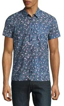 Orlebar Brown Printed Cotton Casual Button-Down Shirt