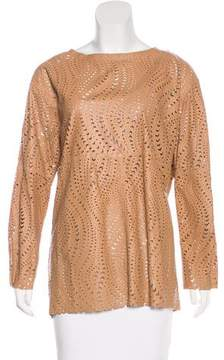 Drome Leather Laser Cut Top w/ Tags
