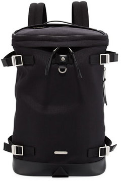 Saint Laurent Rivington Race Canvas & Leather Backpack
