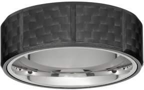 Lynx Men's Stainless Steel & Carbon Fiber Ring