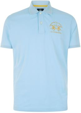 La Martina Gold Logo Polo Shirt
