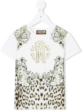 Roberto Cavalli floral leopard print T-shirt