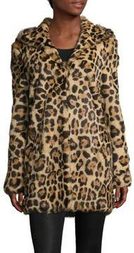 RtA Leopard Printed Rabbit Fur Jacket