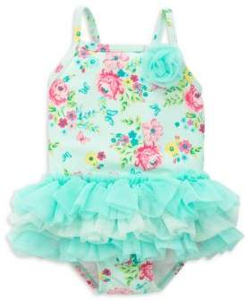 Little Me Baby Girl's One-Piece Floral Swimsuit