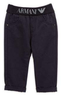 Armani Junior Infant Cotton Solid Trousers