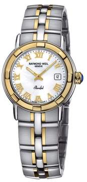Raymond Weil Parsifal 9440-STG-00908 Stainless Steel and Gold-Tone Mother of Pearl Dial 27mm Watch