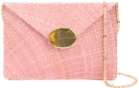 Kayu embellished envelope clutch