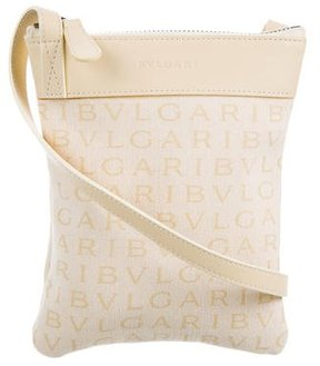 Bvlgari Leather-Trimmed Mini Crossbody Bag