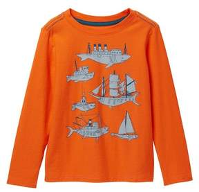 Tea Collection Fish & Ships Graphic Tee (Toddler, Little Boys, & Big Boys)