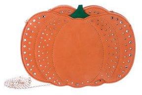 Charlotte Olympia Suede Pumpkin Crossbody Bag