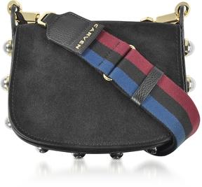 Carven Black Grainy Leather Mini Germain Shoulder Bag