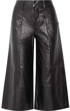 Frame Leather Culottes - Black