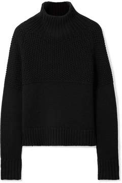 Burberry Dawson Honeycomb And Ribbed Cashmere Sweater - Black