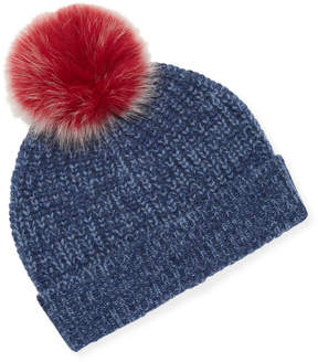 Sofia Cashmere Women's Ribbed Marl Cashmere Hat