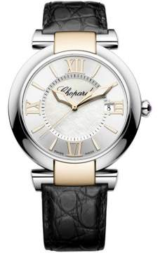 Chopard Imperiale Silver Dial Steel and Rose Gold Case Leather Ladies Watch