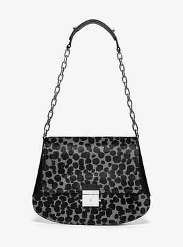 Michael Kors Mia Leopard Calf Hair Envelope Shoulder Bag - GREY - STYLE
