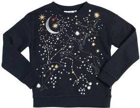 Molo Constellations Cotton & Lurex Sweatshirt