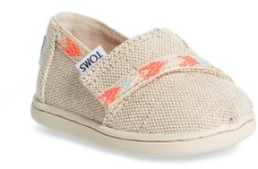 Toms Toddler Girl's Alpargata Classic Print Slip-On
