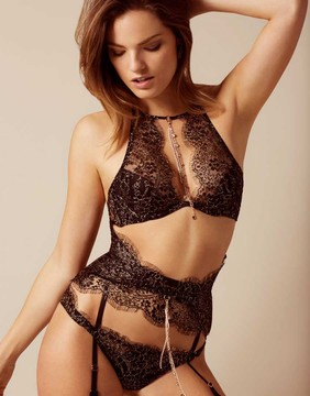 Agent Provocateur Gayle Waspie Black And Gold