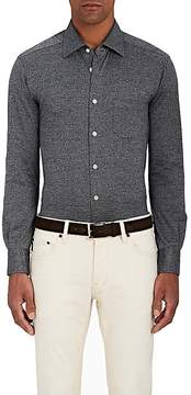 Kiton Men's Mélange Cotton Shirt