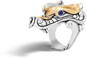 John Hardy Men's Legends Naga Ring in Sterling Silver and Brushed 18K Gold