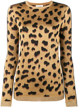 Bella Freud Iggy leopard print jumper