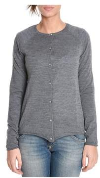 Sun 68 Women's Grey Wool Cardigan.