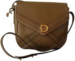 Delvaux Vintage Khaki Leather Handbag