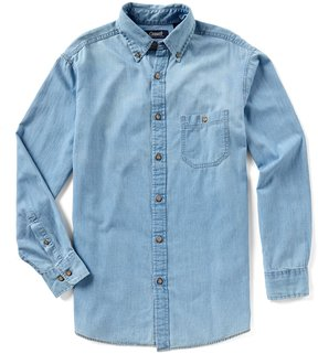 Roundtree & Yorke Casuals Big & Tall Long-Sleeve Denim Shirt