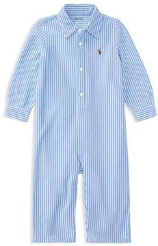 Ralph Lauren Childrenswear Boys' Striped Oxford Coverall - Baby