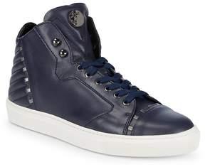 Versace Men's Leather High-Top Sneakers