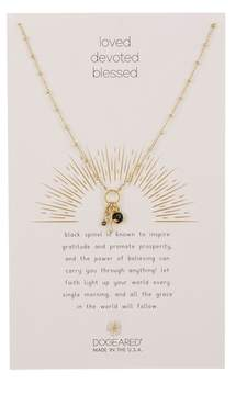 Dogeared Loved, Devoted, & Blessed Cross Pendant Necklace