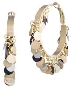 Eddie Borgo Pailette Tambourine Hoop Earrings