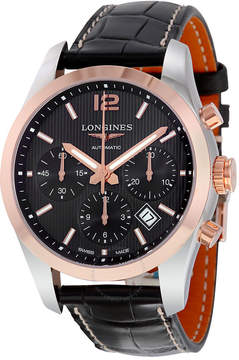 Longines Conquest Classic Black Dial Chronograph Automatic Men's Watch