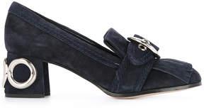 Miu Miu eyelet buckle loafers