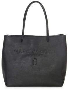 Marc Jacobs Logo Shopper East-West Tote - BLACK - STYLE