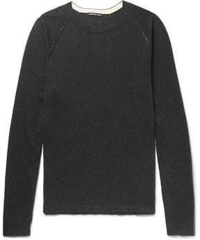 James Perse Slim-Fit Cotton, Cashmere And Wool-Blend Sweater