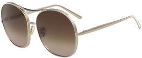 Chloé Nola Navigator Round Aviator Sunglasses